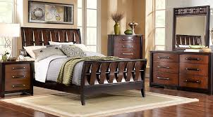 Bedford Heights Cherry  Pc King Sleigh Bedroom King Bedroom - 7 piece bedroom furniture sets