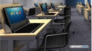 Left Handed Desk Smart Top Ict Single Desk 900w X 600d X720h With Flip Up Lid Left
