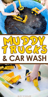 muddy trucks and car wash muddy trucks sensory activities and