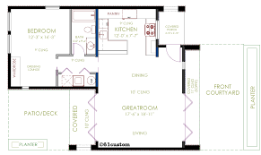floor plan for small house casita plan small modern house plan 61custom contemporary