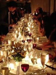 candle light dinner long island the pridwin hotel long table with coviote candels long weddings