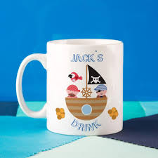 fun u0026 personalised children u0027s pirate mug forever bespoke