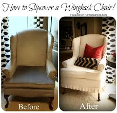 How To Reupholster A Wingback Armchair Slipcovered Wingback Chair That I Want Wingback Chairs