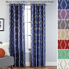 stanton faux silk grommet curtain panels