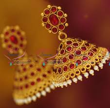 artificial earrings online j1928 temple kempu jhumka online artificial fashion jewellery buy