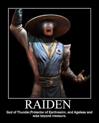 mortal kombat raiden poster by devinthecool on deviantart