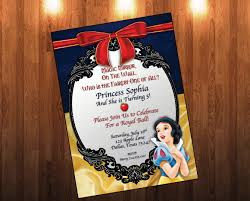 snow white birthday invitation snow white birthday princess kid
