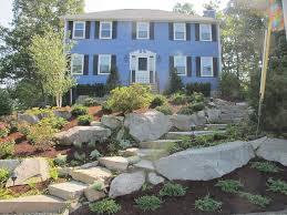 Steep Hill Backyard Ideas Garden Ideas Sloped Backyards Interior Design