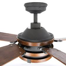 kichler barrington ceiling fan barrington 52 in distressed black and wood downrod or close mount