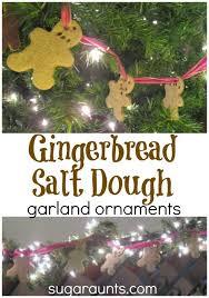 gingerbread salt dough garland 25 days of play the