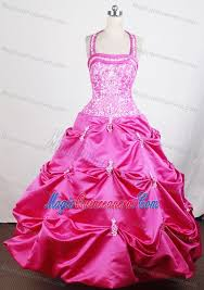 glitz pageant dresses halter hot pink glitz pageant dresses with embroidery and ups