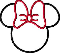 mickey ribbon outline of mickey mouse free best outline of