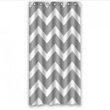 Gray Chevron Shower Curtain Stall Size Shower Curtains Foter