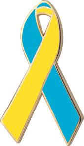 teal ribbons teal and yellow awareness ribbons lapel pins