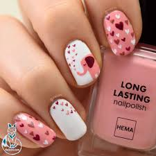 cute elephant valentine nail art nailzini a nail art blog