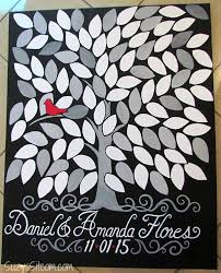 wedding registry book guest book diy tree of wedding guest book on canvas