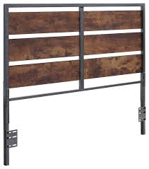 Iron And Wood Headboards by Queen Size Metal And Wood Panel Headboard Industrial