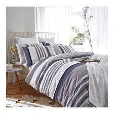 buy bianca cotton soft seersucker stripe duvet cover set at