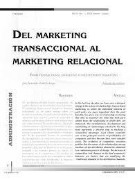 modeloñas marketingtransaccional al marketing relacional