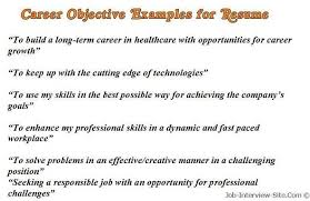 resume objectives exles resume objective sle best resume collection