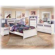 amazon com ashley zayley white full size bed set kitchen u0026 dining