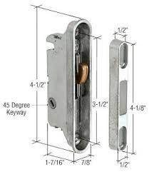 Patio Door Mortise Lock Replacement Crl 7 8 Wide Mortise Lock And Keeper With 3 1 2 Holes With