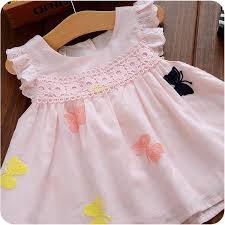 white baby dress princess baby butterfly dress cartoon one