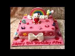cara membuat hiasan kue ulang tahun anak contoh hiasan kue hello kitty untuk ulang tahun anak perempuan youtube