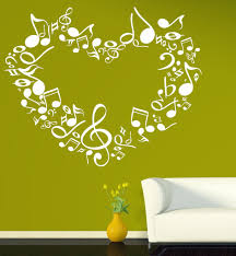 large wall sticker vinyl decal heart notes of love symphony music large wall sticker vinyl decal heart notes of love symphony music signs n518