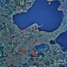 Madison Wisconsin Map by Satellite View Of Madison Wisconsin Photograph By Stocktrek Images