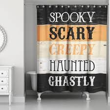 Words Shower Curtain Halloween Shower Curtains You U0027ll Love Wayfair Ca