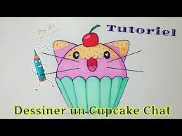 dessiner un cupcake chat kawaii tutoriel facile youtube