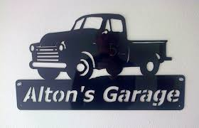 Custom Metal Signs For Home Decor by Man Cave Chevy Truck Personalized Metal Sign Chevrolet