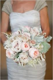 Shabby Chic Bridal Bouquet by Textural Blooms Antique Garden Roses Sweet Peas Clematis