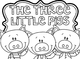 3 Little Pigs Printable Coloring Pages