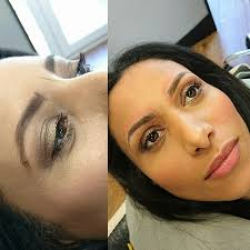 Eyebrow Tattoo Before And After Eyebrow Tattooing Microblading Semi Permanent Makeup Surrey