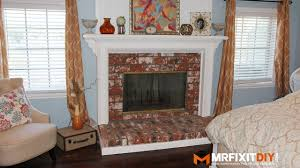 diy fireplace makeover youtube