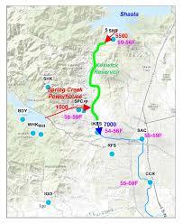 Redding California Map Improving Water Temperature Management In Sacramento River Below