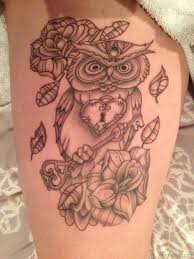 owl tattoos design 50 lovable owl tattoo on thigh