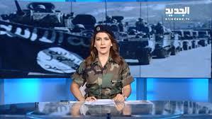 saudi female news anchor lebanese anchor dons fatigues in support of army al arabiya english