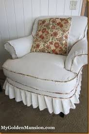 Slipcovers Made From Drop Cloths Drop Cloth Slipcovers Made Using Mms Video Directions Decorating