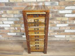 Reclaimed Wood File Cabinet Reclaimed Wood Tall Boy Rustic Filing Cabinet 10 Drawer Chest