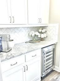 white kitchen backsplash with dark cabinets grout black and tile