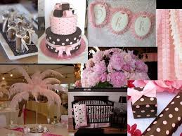 pink and brown baby shower pink and brown baby shower baby shower ideas