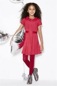 girls red dresses girls red cold shoulder dresses next uk