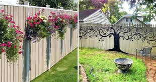 Backyard Fence Decorating Ideas Backyard Fence Decor Diy Fence Decorating Ideas Designandcode Club