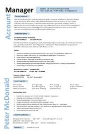 account manager resumes account manager cv template sle description resume