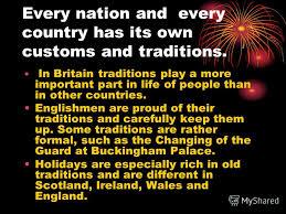презентация на тему traditions and customs of great britain
