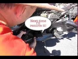 how to remove the battery from your honda pacific coast youtube