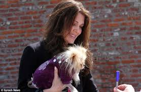 linda vanserpump hair dog star lisa vanderpump is upstaged by her dog as she arrives